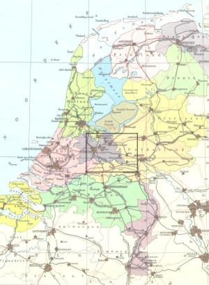 small map of the Netherlands